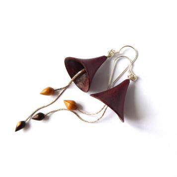 Bois Clochettes Amarante Bois de Violette If Argent massif 925°° 2