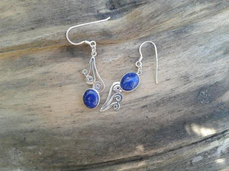 Boucles asymétriques lapis lazuli