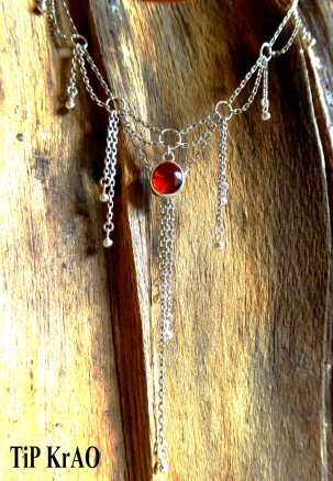 Collier Ambre Rouge du Mexique