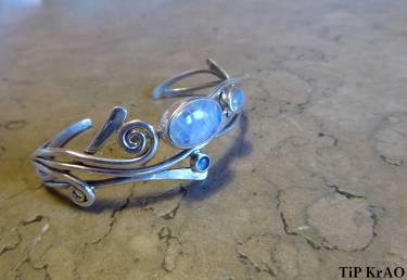 Bracelet 3 pierres de Lune