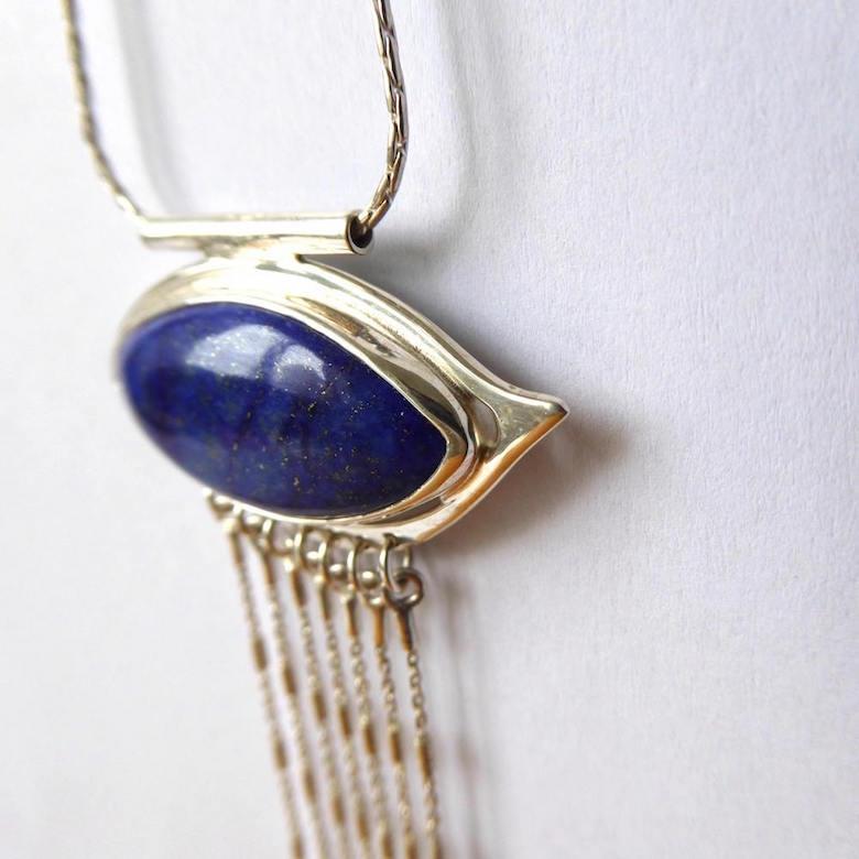 Collier Oeil de Lapis Lapis Lazuli Argent 925°° 3 - copie